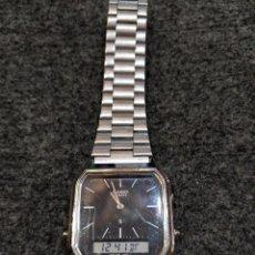 Relojes - Casio: RELOJ CASIO ANALÓGICO Y DIGITAL, ESFERA NEGRA, AQ-222. Lote 148416838
