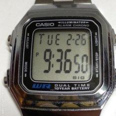 Relojes - Casio: RELOJ CASIO 3234 A178W WR DUAL TIME MADE IN CHINA. Lote 152960906