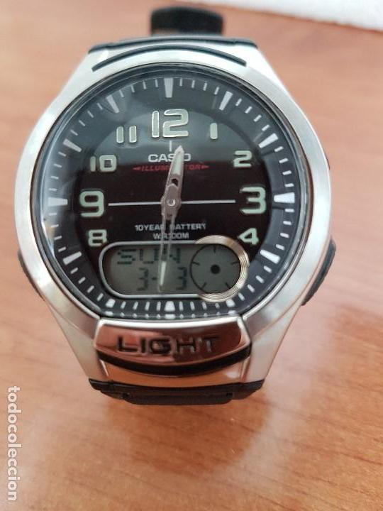 53a018febb20 Relojes - Casio  Reloj caballero Casio analogico y digital 3793. AQ- 180 W