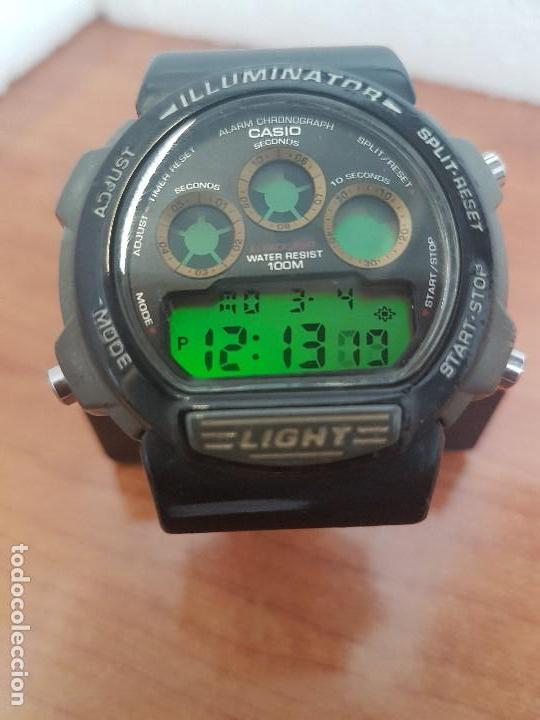 Relojes - Casio: Reloj caballero (Vintage) CASIO digital 1534. W-727H, correa negra silicona, alarma,cronografo - Foto 2 - 154683994