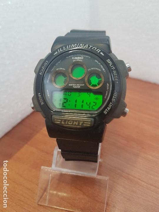 Relojes - Casio: Reloj caballero (Vintage) CASIO digital 1534. W-727H, correa negra silicona, alarma,cronografo - Foto 3 - 154683994