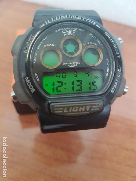 Relojes - Casio: Reloj caballero (Vintage) CASIO digital 1534. W-727H, correa negra silicona, alarma,cronografo - Foto 4 - 154683994