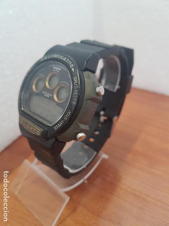 Relojes - Casio: Reloj caballero (Vintage) CASIO digital 1534. W-727H, correa negra silicona, alarma,cronografo - Foto 5 - 154683994