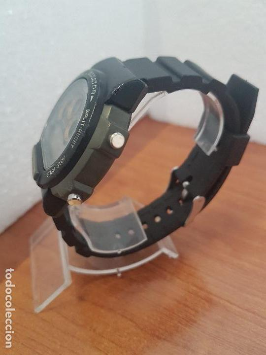 Relojes - Casio: Reloj caballero (Vintage) CASIO digital 1534. W-727H, correa negra silicona, alarma,cronografo - Foto 6 - 154683994