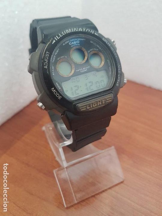 Relojes - Casio: Reloj caballero (Vintage) CASIO digital 1534. W-727H, correa negra silicona, alarma,cronografo - Foto 7 - 154683994