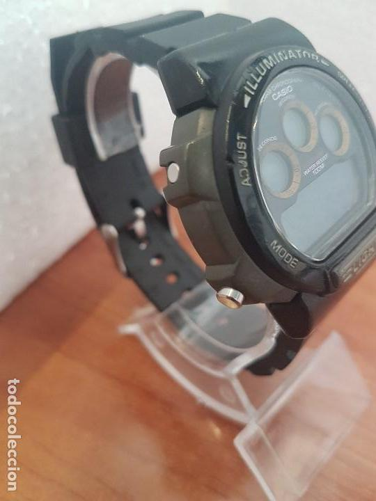 Relojes - Casio: Reloj caballero (Vintage) CASIO digital 1534. W-727H, correa negra silicona, alarma,cronografo - Foto 8 - 154683994
