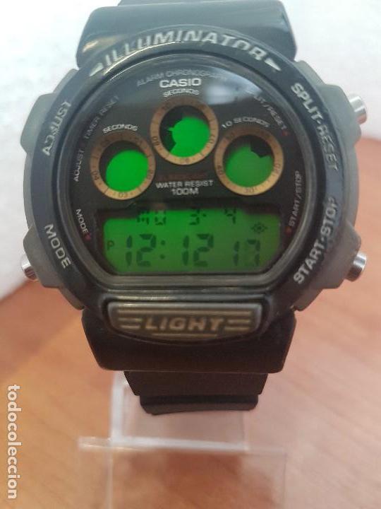 Relojes - Casio: Reloj caballero (Vintage) CASIO digital 1534. W-727H, correa negra silicona, alarma,cronografo - Foto 9 - 154683994