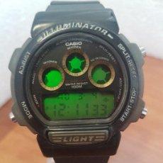 Relojes - Casio: RELOJ CABALLERO (VINTAGE) CASIO DIGITAL 1534. W-727H, CORREA NEGRA SILICONA, ALARMA,CRONOGRAFO. Lote 154683994