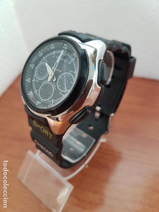 Relojes - Casio: Reloj caballero de cuarzo CASIO, modulo 3368 – AQ-163, caja de silicona y acero, correa de silicona - Foto 2 - 158133478