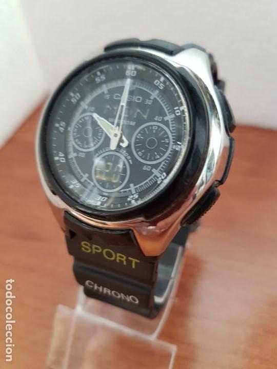 Relojes - Casio: Reloj caballero de cuarzo CASIO, modulo 3368 – AQ-163, caja de silicona y acero, correa de silicona - Foto 3 - 158133478