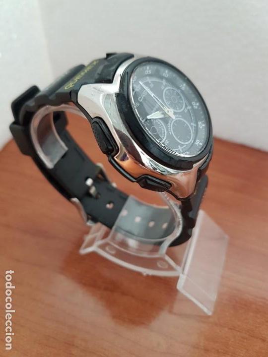 Relojes - Casio: Reloj caballero de cuarzo CASIO, modulo 3368 – AQ-163, caja de silicona y acero, correa de silicona - Foto 4 - 158133478