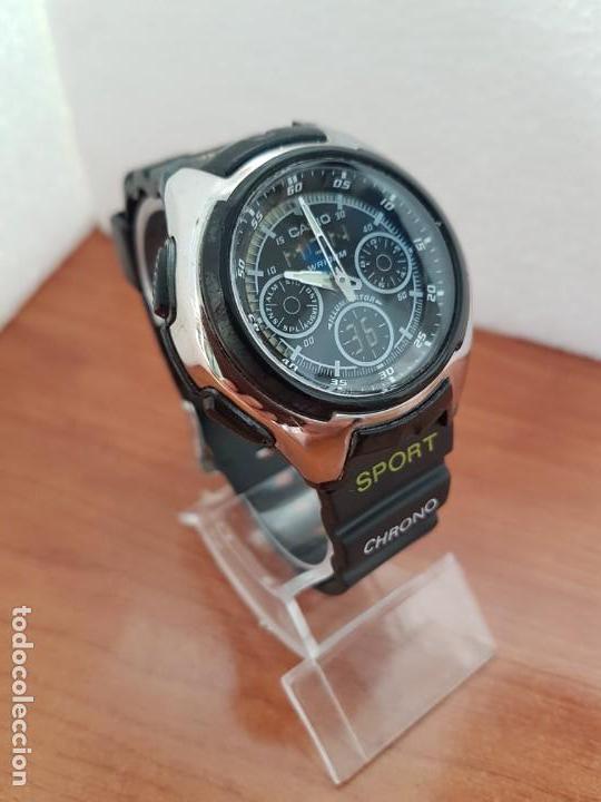 Relojes - Casio: Reloj caballero de cuarzo CASIO, modulo 3368 – AQ-163, caja de silicona y acero, correa de silicona - Foto 7 - 158133478
