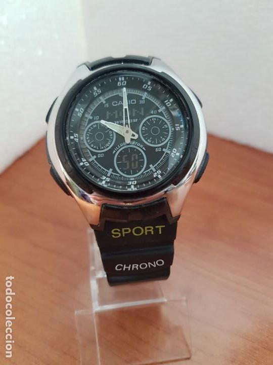 Relojes - Casio: Reloj caballero de cuarzo CASIO, modulo 3368 – AQ-163, caja de silicona y acero, correa de silicona - Foto 8 - 158133478