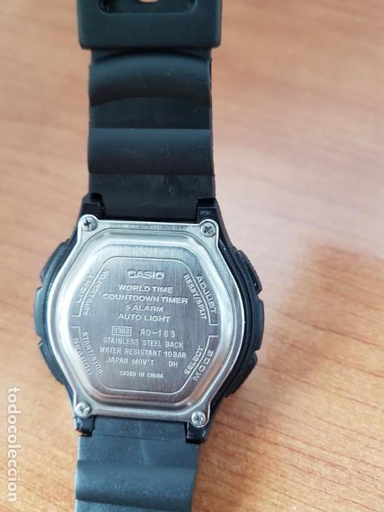 Relojes - Casio: Reloj caballero de cuarzo CASIO, modulo 3368 – AQ-163, caja de silicona y acero, correa de silicona - Foto 9 - 158133478