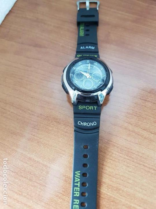 Relojes - Casio: Reloj caballero de cuarzo CASIO, modulo 3368 – AQ-163, caja de silicona y acero, correa de silicona - Foto 10 - 158133478