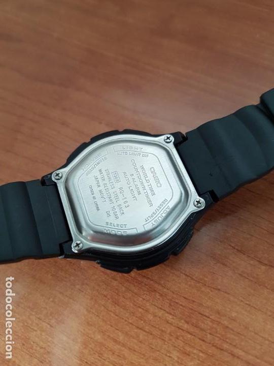 Relojes - Casio: Reloj caballero de cuarzo CASIO, modulo 3368 – AQ-163, caja de silicona y acero, correa de silicona - Foto 11 - 158133478