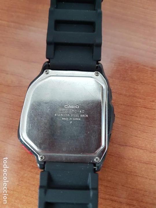 Relojes - Casio: Reloj caballero (Vintage) CASIO digital cuarzo, 1174. CMD-40 con correa silicona no original nueva - Foto 16 - 158229422