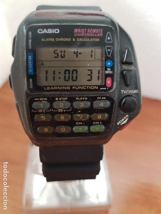 RELOJ CABALLERO (VINTAGE) CASIO DIGITAL CUARZO, 1174. CMD-40 CON CORREA SILICONA NO ORIGINAL NUEVA (Relojes - Relojes Actuales - Casio)