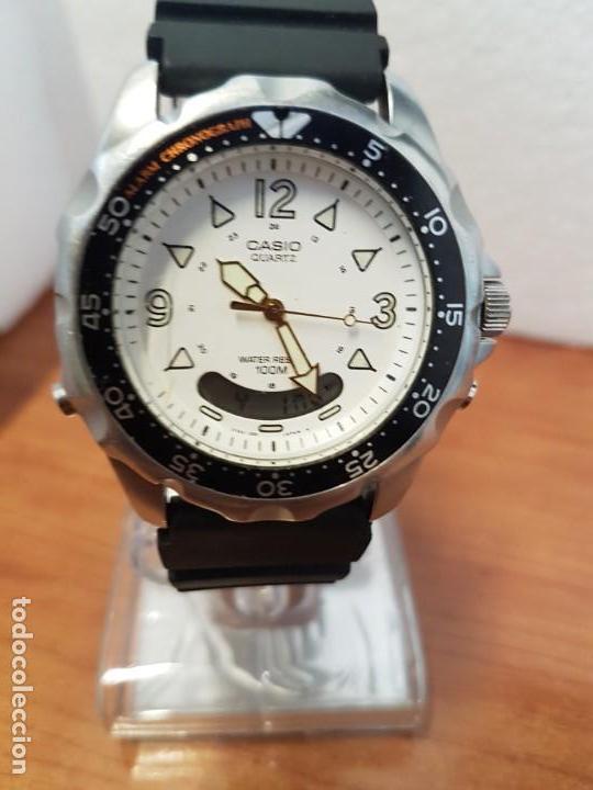 73e21bac9704 Relojes - Casio  Reloj caballero (Vintage CASIO analógico y digital en  acero
