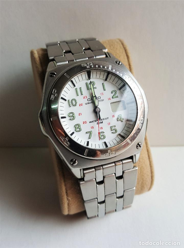 2 Reloj Casio Wave En Ceptor Esfera Vendido Subasta Metal cm 8 D bg7yf6