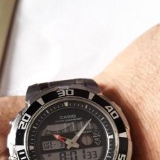 Relojes - Casio: RELOJ DE PULSERA CABALLERO DIGITAL CASIO MTD-1055, MUY BUEN ESTADO. Lote 162079006