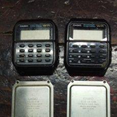 Relojes - Casio: DOS RELOJES CALCULADORA CASIO. Lote 165022582