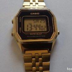 Relojes - Casio: RELOJ CASIO DORADO LA-680-W MODULO3284. Lote 165755998