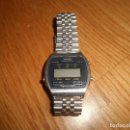 Relojes - Casio: RARO CASIO CASIOTRON CHRONOGRAPH RELOJ DIGITAL LCD DE LOS 70 80 JAPAN ACERO CORREA ORIGINAL. Lote 166338798