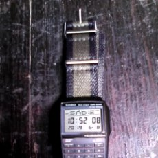 Relojes - Casio: RELOJ CASIO DBC-32 CON CORREA DE NYLON / CALCULADORA, DATA BANK /. Lote 167499116