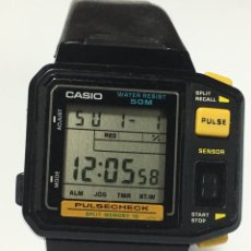 Watches - Casio - reloj casio 509 JP-100W stainless steel back water resistant japan pulse check toma el pulso - 168108634