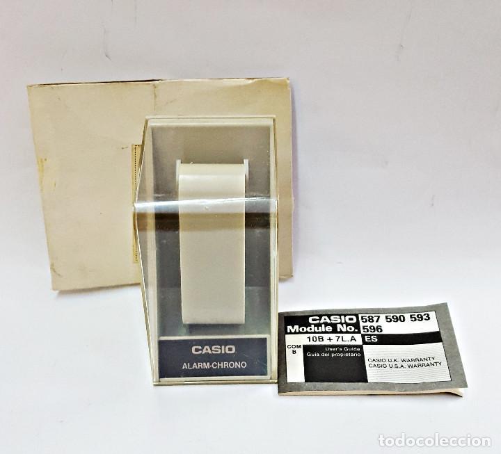 ANTIGUA CAJA-CABALLETE DE RELOJ CASIO F-84-W.1AZ (Relojes - Relojes Actuales - Casio)