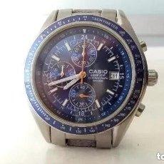 Relojes - Casio: CASIO EDIFICE EF 503: RELOJ CRONOGRAFO DE CABALLERO - SUMERGIBLE 100M *ENVIO CERTIFICADO GRATIS*. Lote 170429500