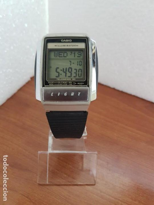 CaballerovintageCasio A Reloj 210De Y SiliconaCorrea 1637 30 Acero Telememo Silicona yvm8w0ONn