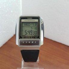 Relojes - Casio: RELOJ CABALLERO (VINTAGE) CASIO TELEMEMO 30 1637- A 210, DE ACERO Y SILICONA, CORREA DE SILICONA . Lote 171128247