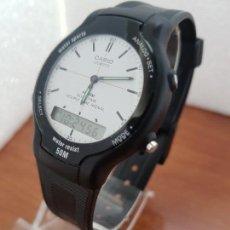 Relojes - Casio: RELOJ CABALLERO CASIO ANALÓGICO Y DIGITAL 306. AW- 30 CAJA DE RESINA Y TAPA ACERO, CORREA DE RESINA. Lote 171139643