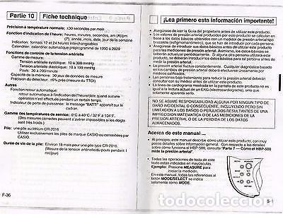Relojes - Casio: VINTAGE CASIO HBP-500 Blood pressure monitor - Foto 2 - 171356922