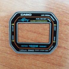 Relojes - Casio: CRISTAL (VINTAGE) CASIO W-300 MARLIN SIN EL ARO DE GOMA, NUEVO SIN USO, CRISTAL ORIGINALES 100% CASI. Lote 172607474