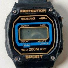 Relojes - Casio: RELOJ DIGITAL. VINTAGE. CASIO AMBASSADOR.. Lote 173116880