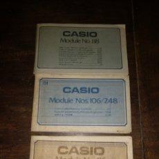 Relojes - Casio: MANUALES CASIO MODELOS 118-116-106-248. Lote 176292798