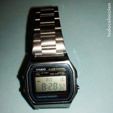 Relojes - Casio: RELOJ CASIO DIGITAL AÑOS 80, DE COLECCION, CORREA EXTENSIBLE, COMO NUEVO. Lote 176681805