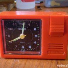 Relojes - Casio: RELOJ DESPERTADOR CASIO TQ120B TQ-120B FUNCIONANDO. Lote 177311343