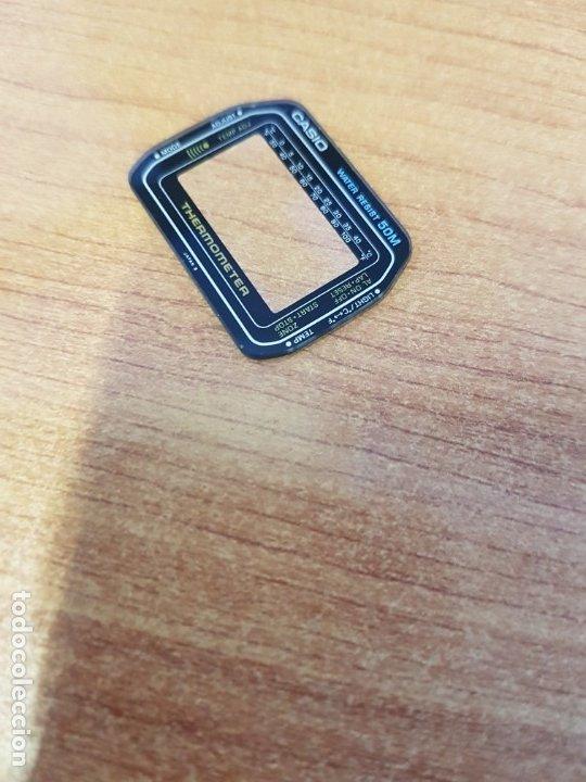 Relojes - Casio: Cristal (Vintage) CASIO thermometer sin junta de goma, nuevo sin uso, cristal originales 100% CASIO - Foto 2 - 233846135