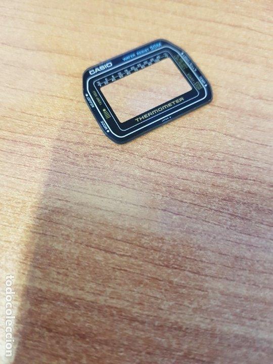 Relojes - Casio: Cristal (Vintage) CASIO thermometer sin junta de goma, nuevo sin uso, cristal originales 100% CASIO - Foto 3 - 233846135