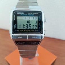 Relojes - Casio: RELOJ CABALLERO (VINTAGE) CASIO DATABANK TELEMEMO 100, 696. DBK-110 DE ACERO, CORREA ACERO ORIGINAL.. Lote 178645996