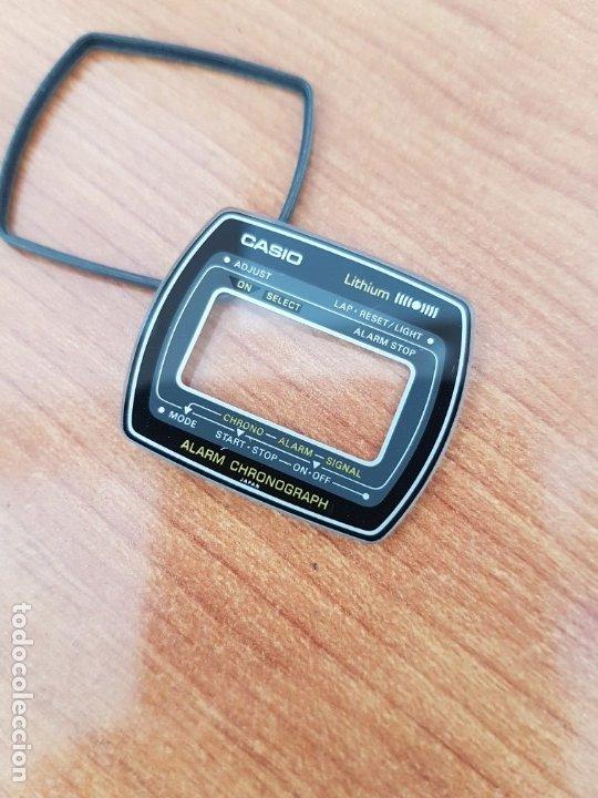 Relojes - Casio: Cristal (Vintage) CASIO, alarma, crono, con junta goma, nuevo sin uso, cristal originales 100% CASIO - Foto 2 - 178654560