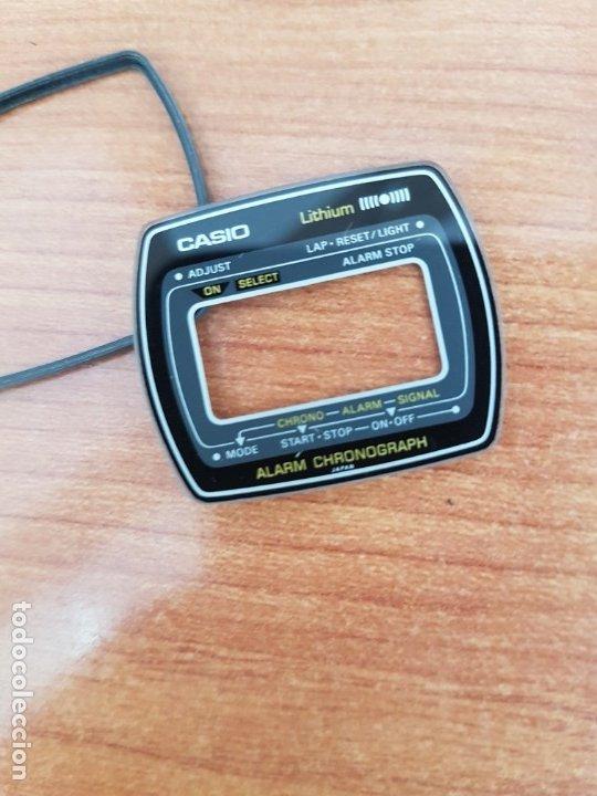 Relojes - Casio: Cristal (Vintage) CASIO, alarma, crono, con junta goma, nuevo sin uso, cristal originales 100% CASIO - Foto 6 - 178654560