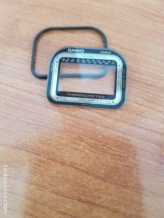 Relojes - Casio: Cristal (Vintage) CASIO thermometer con junta de goma, nuevo sin uso, cristal originales 100% CASIO - Foto 3 - 178655121