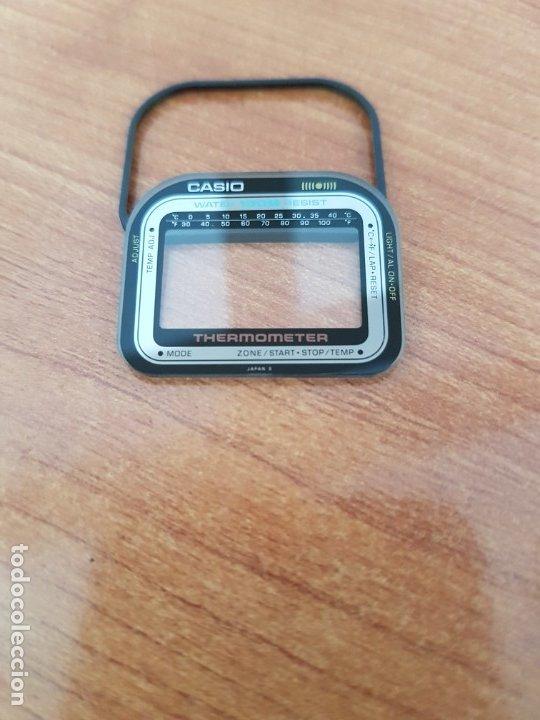 Relojes - Casio: Cristal (Vintage) CASIO thermometer con junta de goma, nuevo sin uso, cristal originales 100% CASIO - Foto 6 - 178655121