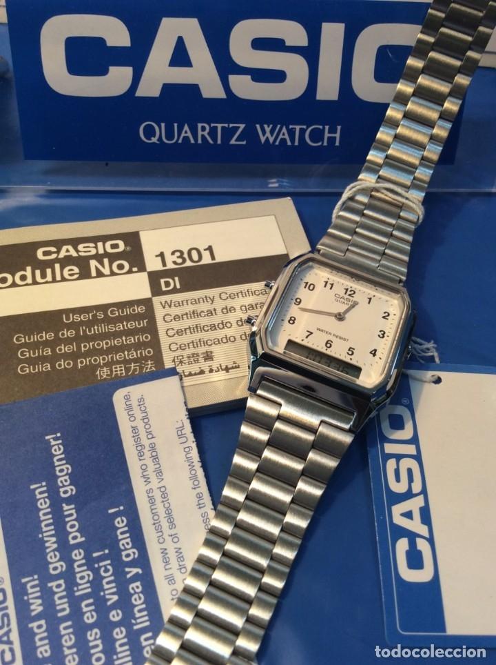 Relojes - Casio: RELOJ CASIO AQ 230 ¡¡¡DE LOS PRIMEROS ANA-DIGI!!! ¡¡NUEVO¡¡ (VER FOTOS) - Foto 2 - 232194040