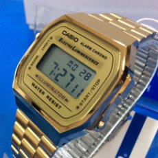 Relojes - Casio: RELOJ CASIO A 168 GOLD ¡¡¡ UN Nº 1 EN VENTAS !!! VINTAGE ¡¡NUEVO¡¡ (VER FOTOS). Lote 181085768